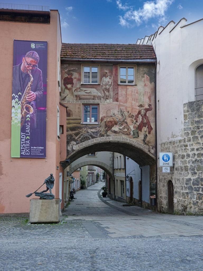 Altstadt von Burghausen und dessen Fußgängerzone