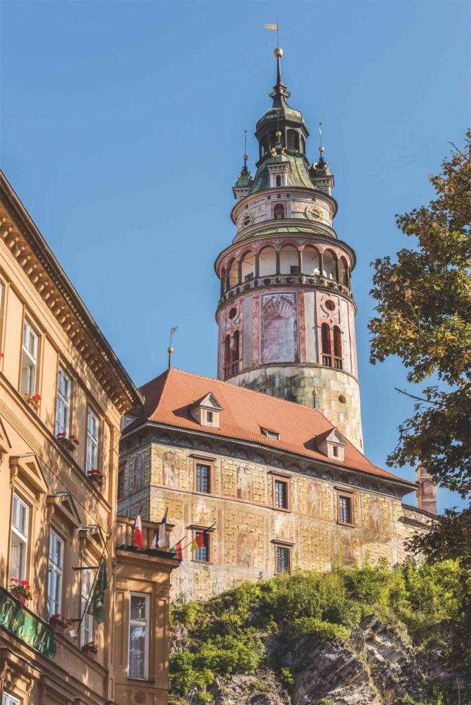 Glockenturm im Renaissancestil von Schloss Český