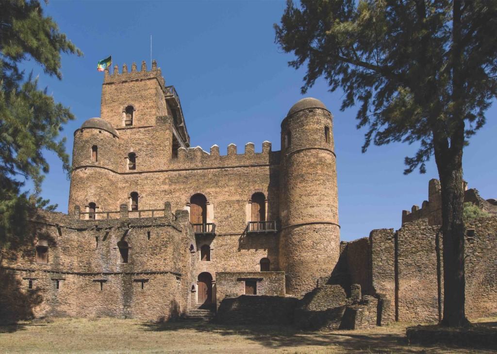 Palast Fasil Ghebbi in Gondar