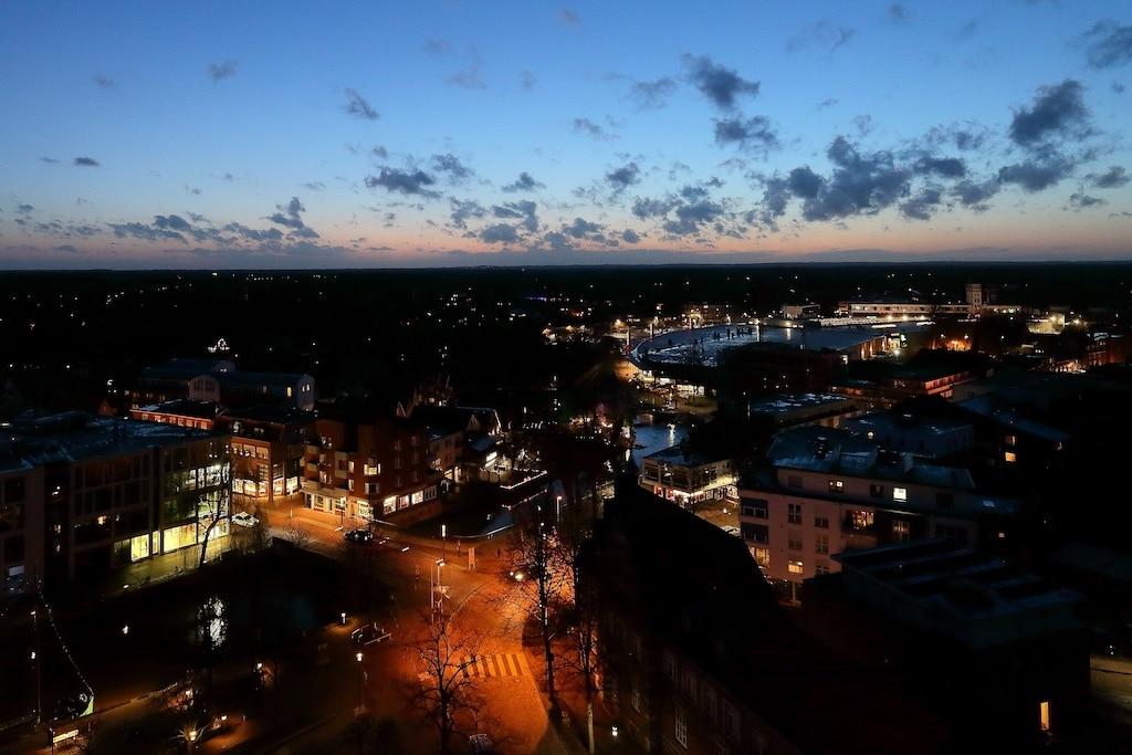 Aussicht über Nordhorn bei Nacht