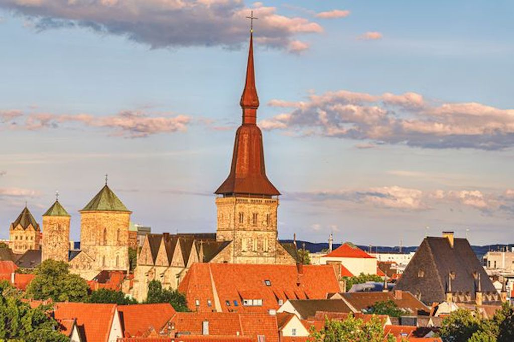Blick auf die Altstadt von Osnabrück vom Natruper Tor