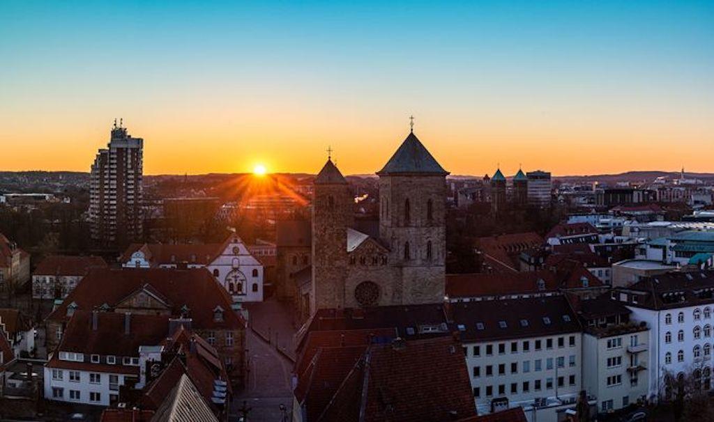 Über den Dächern von Osnabrück - Sonnenaufgang
