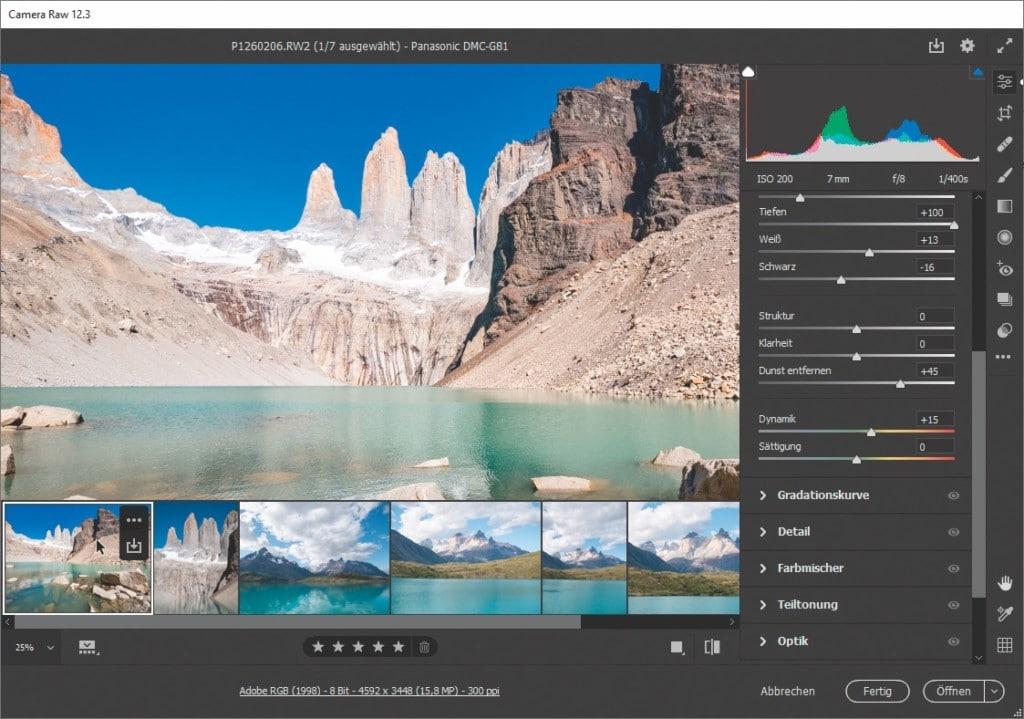 Screenshot aus Bridge