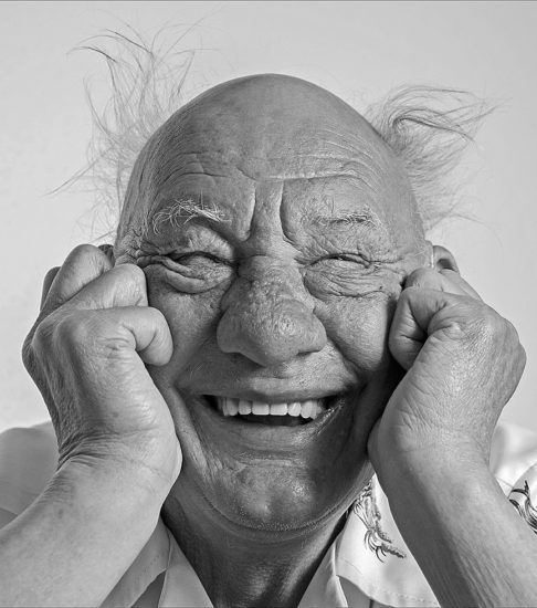 Portraits eines älteren Mannes