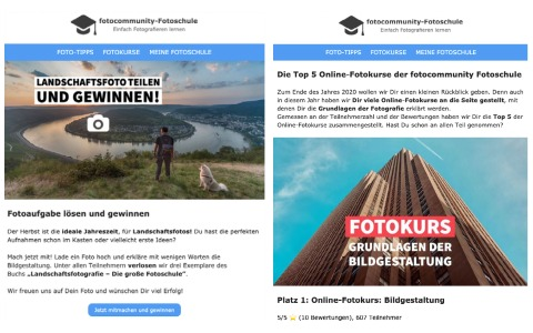 Newsletter Fotocommunity Fotoschule