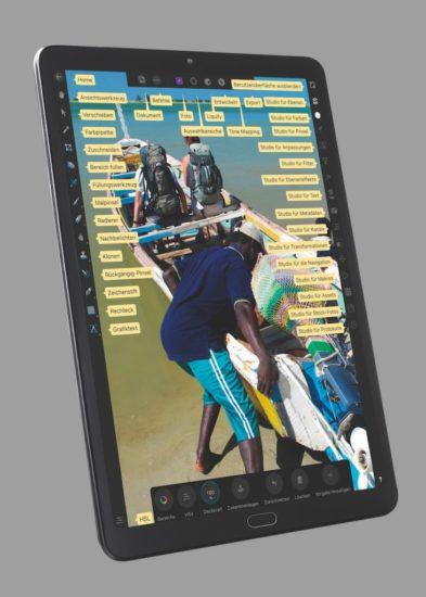 iPad in der Affinity-Bildbearbeitung