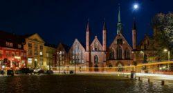 Der Linienbus fuhr am Heilig-Geist-Hospital Lübeck vorbei fotografiert von Jörg Murawski