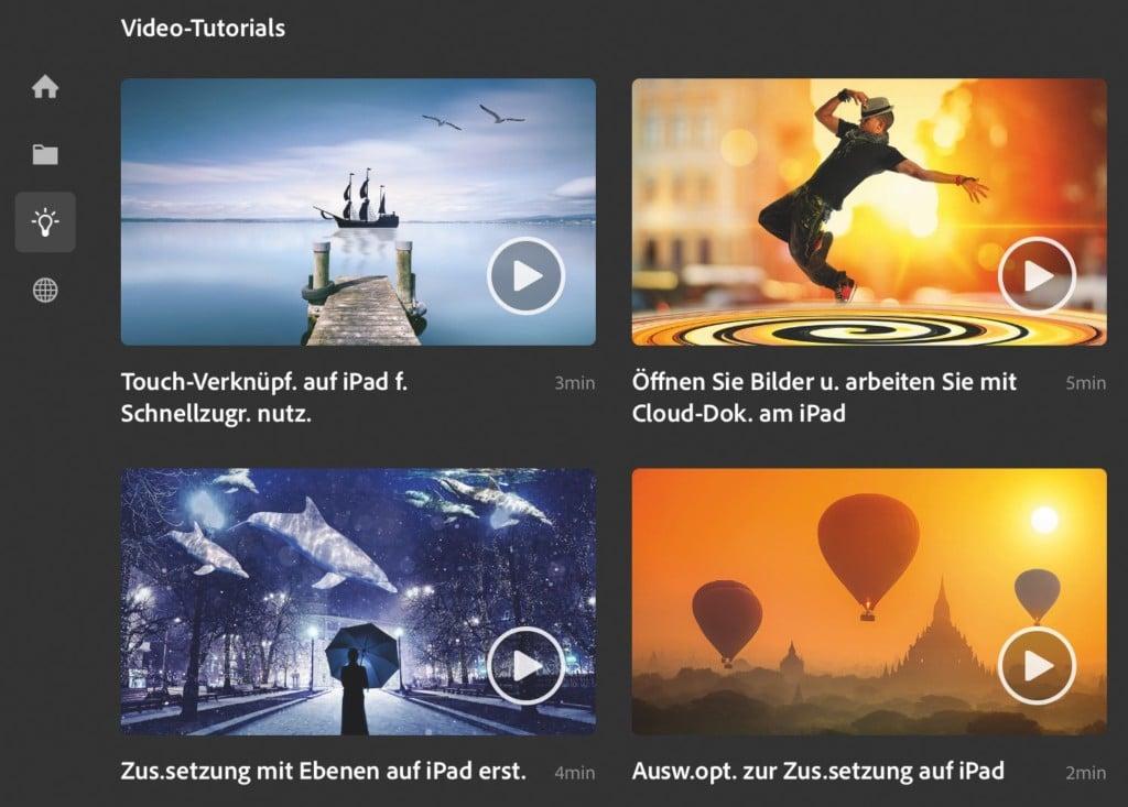 Screenshot aus Photoshop - Videotutorials