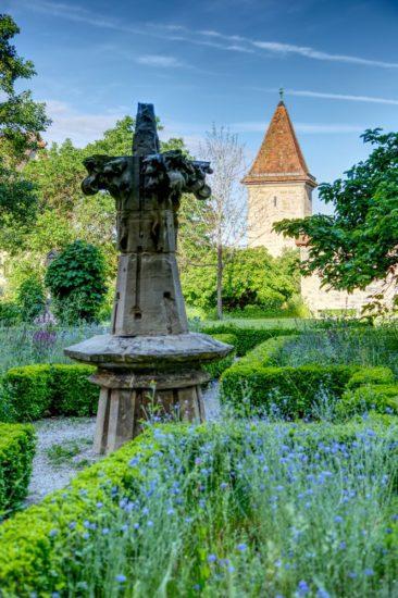Kräutergarten in Rothenburg ob der Tauber