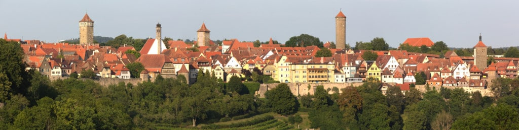 Panorama Spitalviertel in Rothenburg ob der Tauber