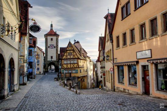 Plönlein mit Siebertsturm in Rothenburg ob der Tauber