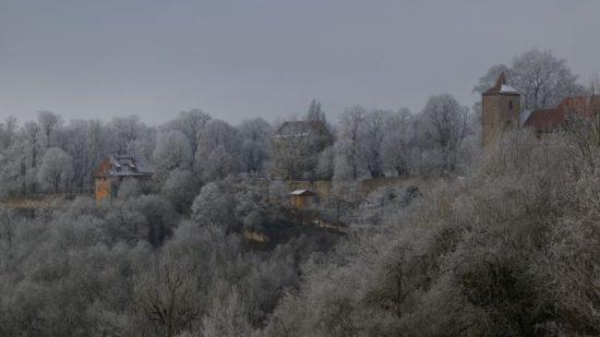 Rothenburg ob de Tauber im Frost