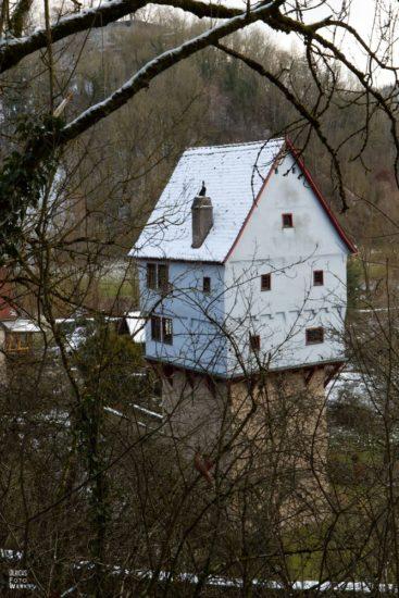 Topplerschlösschen von der Fuschsteige in Rothenburg ob der Tauber
