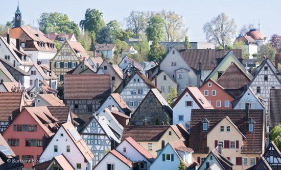 Altstadtdächer in Marbach