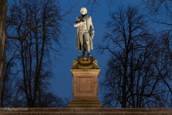 Friedrich-Schiller-Denkmal im Schillerpark in Marbach