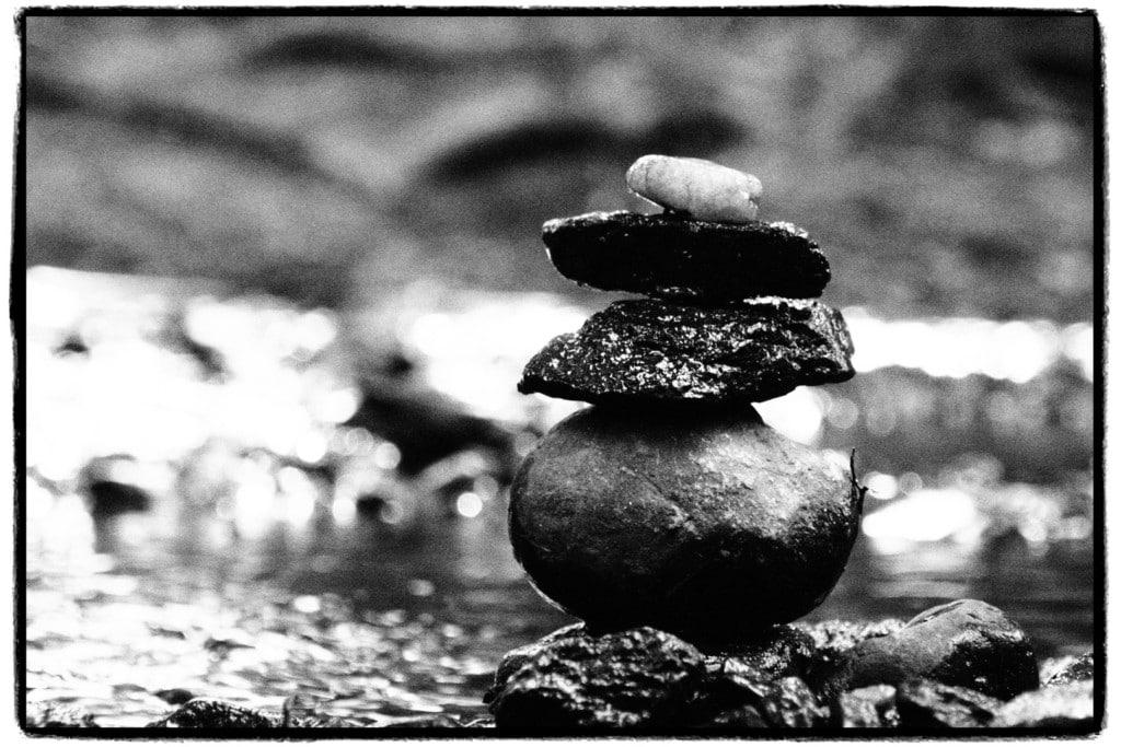 Foto eines Stein-Türmchens