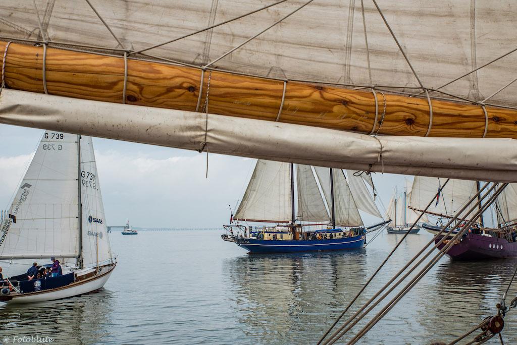 Segelschiffe beim Sailing-Cup in Wilhelmshaven