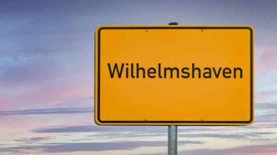 Wilhelmshaven Ortseingangsschild