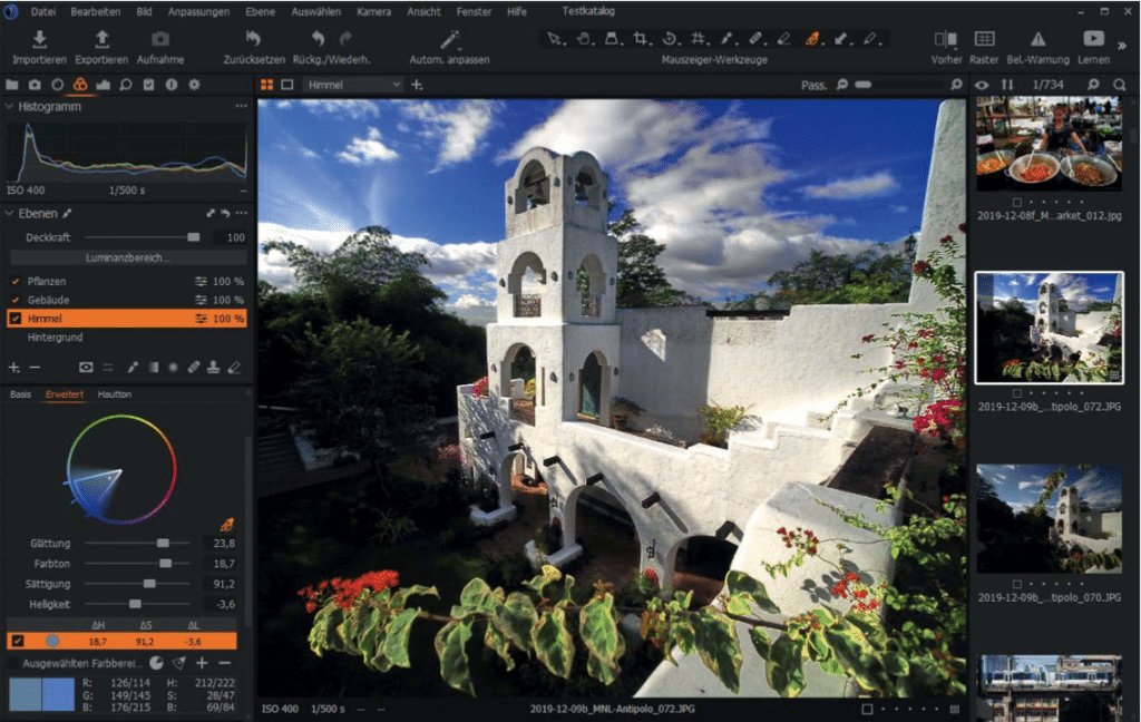 Screenshot aus Capture One Pro 21