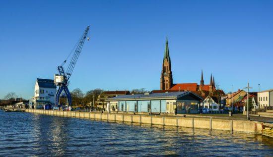 Der Stadthafen in Schleswig