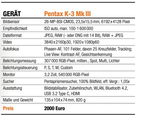 Pentax K-3 MkIII - Übersicht