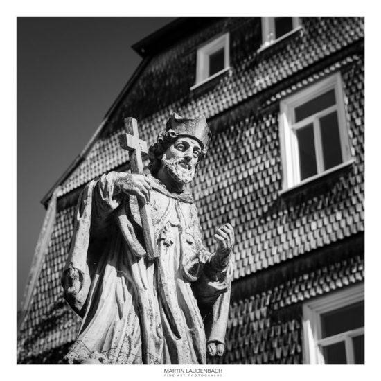 Johannes von Nepomuk Statue Mittelbrücke in der Innenstadt von Bensheim