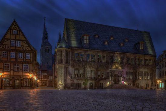 Quedlinburger Rathaus im Harz fotografieren