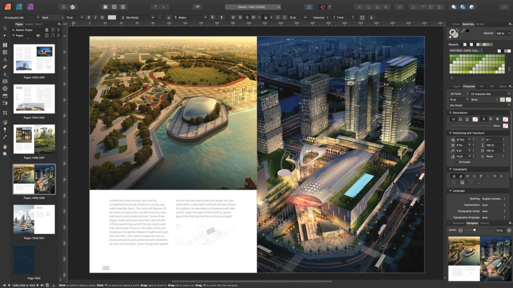 Das Bildbearbeitungsprgramm Affinity 1.10