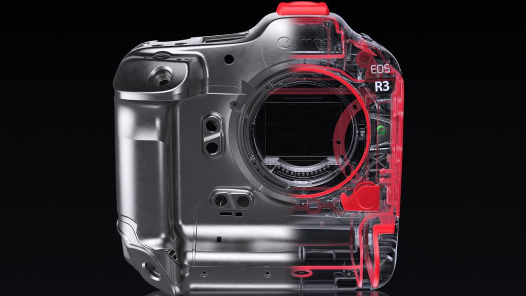Canon EOS R3 - Röntgenansicht