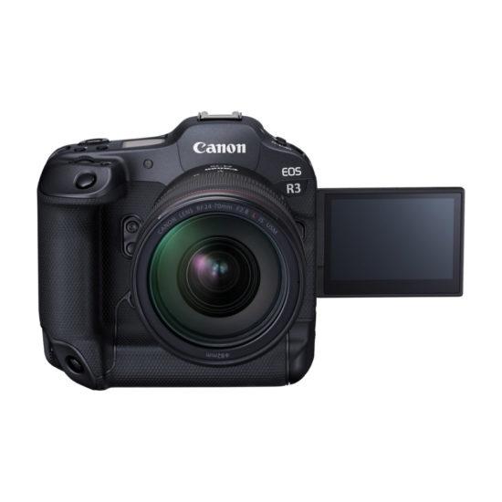 Canon EOS R3 mit ausgeklapptem Monitor