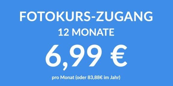 Fotokurszugang für nur 6,99€ im Monat
