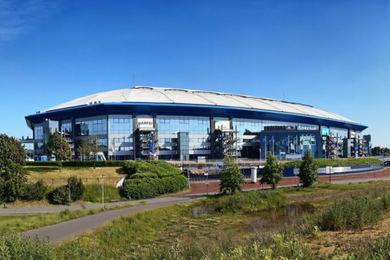 Die Veltins Arena in Gelsenkirchen